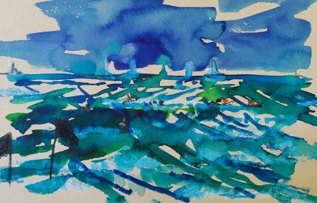 """מִכְתָּם – תערוכת עבודות אקוורל בגלריה """"במרכז"""" בהוד השרון"""