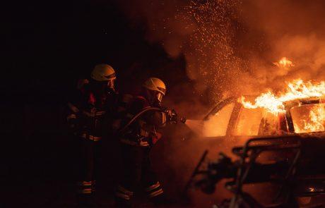 שריפת רכב בהוד השרון